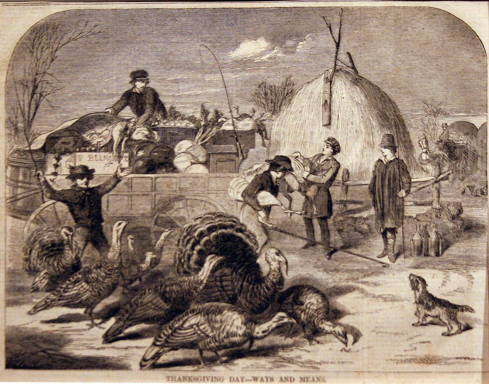 Homer, Thanksgiving Day-Ways and Means, 1858