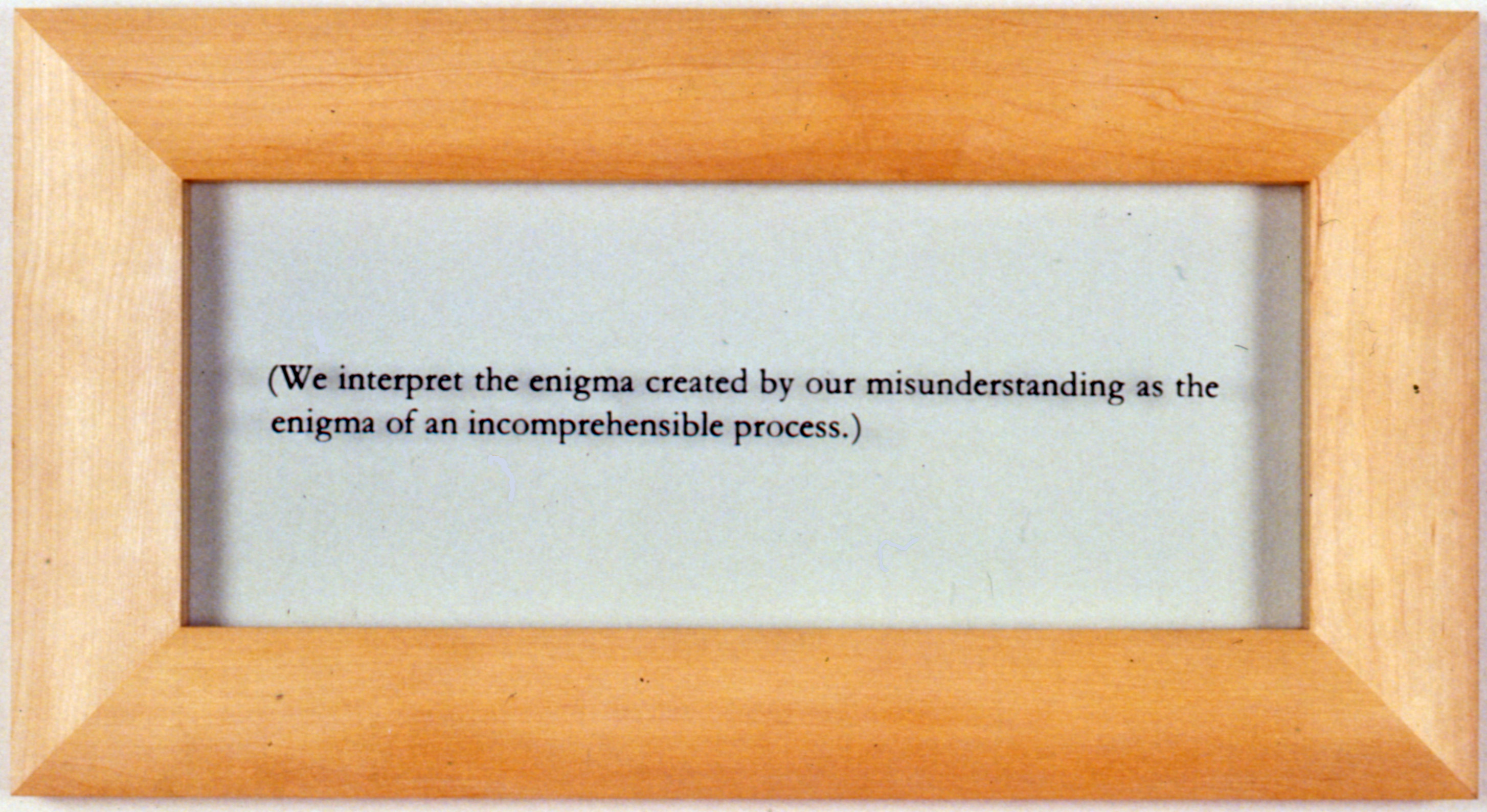 Tuesday's objet: Wittgenstein Untitled